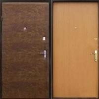 Железная дверь эконом класса с винилискожей и ламинатом