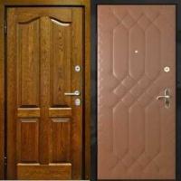Металлическая дверь эконом класса с МДФ и винилискожей с рисунком