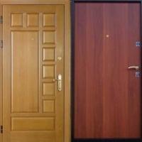 Металлическая дверь эконом класса с МДФ и ламинатом