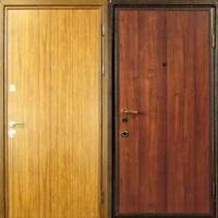 Стальная дверь эконом класса с ламинатом с 2-х сторон