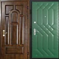 Железная дверь эконом класса с МДФ и винилискожей с рисунком