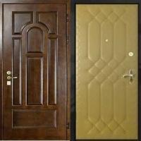 Входная дверь эконом класса с МДФ и винилискожей с рисунком