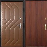 Входная дверь с винилискожей с рисунком и ламинатом