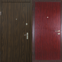 Железная дверь с ламинатом с 2-х сторон
