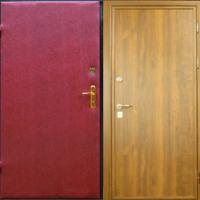 Входная дверь с винилискожей и ламинатом