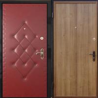 Железная дверь с винилискожей с рисунком и ламинатом
