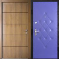 Стальная дверь с ламинатом и винилискожей с рисунком