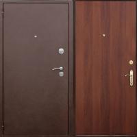Железная дверь с порошковым окрасом и ламинатом