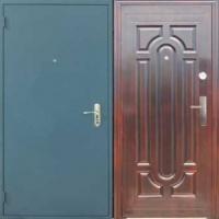 Металлическая дверь с порошковым напылением и МДФ