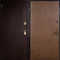 Стальная дверь с порошковым напылением и винилискожей гладкой