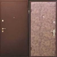 Входная дверь с порошковым напылением и винилискожей гладкой