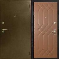 Входная дверь с порошковым напылением и винилискожей с рисунком
