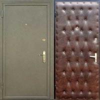 Стальная дверь с порошковым напылением и винилискожей с рисунком
