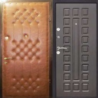 Железная дверь с винилискожей с рисунком и МДФ