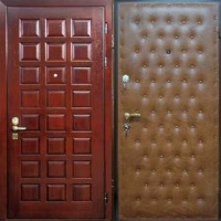 Входная дверь с МДФ и винилискожей с рисунком