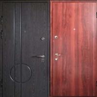 Железная дверь с МДФ и ламинатом