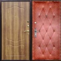 Железная дверь с МДФ и винилискожей с рисунком
