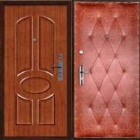 Металлическая дверь с МДФ и винилискожей с рисунком