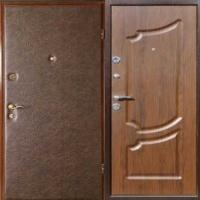 Металлическая дверь с винилискожей гладкой и МДФ