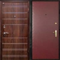 Железная дверь с МДФ и винилискожей гладкой