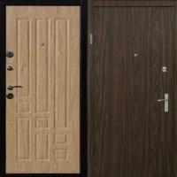 Металлическая дверь с МДФ и ламинатом