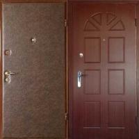 Железная дверь с винилискожей гладкой и МДФ