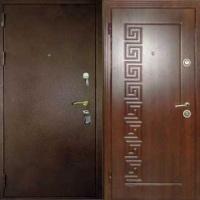 Железная дверь с порошковым напылением и МДФ