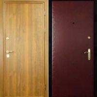 Входная дверь с ламинатом и винилискожей гладкой