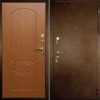 Входная дверь с порошковым напылением и МДФ