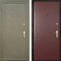 Металлическая дверь с порошковым напылением и винилискожей гладкой