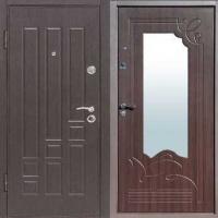 Металлическая дверь с массивом и МДФ с зеркалом