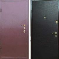 Железная дверь с порошковым напылением и винилискожей гладкой