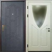 Стальная дверь с зеркалом с МДФ с 2-х сторон