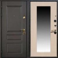 Входная дверь с зеркалом с МДФ с 2-х сторон