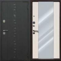 Металлическая дверь с зеркалом с порошковым напылением и ламинатом