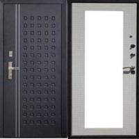 Стальная дверь с зеркалом с порошковым напылением и ламинатом
