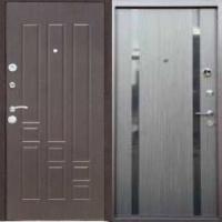Металлическая дверь с зеркалом с МДФ с 2-х сторон