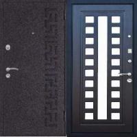 Стальная дверь с зеркалом с порошковым напылением и МДФ