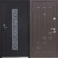 Металлическая дверь в частный дом с порошковым напылением и МДФ