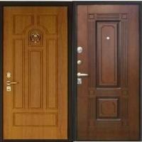 Стальная дверь в коттедж с массивом с 2-х сторон
