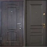 Входная дверь в частный дом с массивом и МДФ