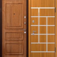 Стальная дверь в коттедж с МДФ и ламинатом