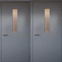 Входная техническая дверь с порошковым окрасом с двух сторон