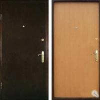 Стальная дверь в квартиру с ламинатом и порошковым напылением