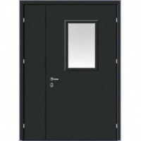 Железная техническая дверь с порошковым окрасом с 2-х сторон