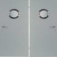 Входная техническая дверь с порошковым напылением и зеркалом с 2-х сторон
