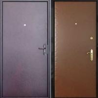 Стальная техническая дверь с порошковым напылением и винилискожей