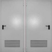 Металлическая техническая дверь с порошковым напылением с 2-х сторон