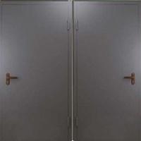 Металлическая техническая дверь с порошковым напылением с двух сторон