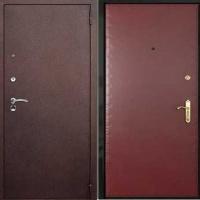 Железная техническая дверь с порошковым напылением и винилискожей